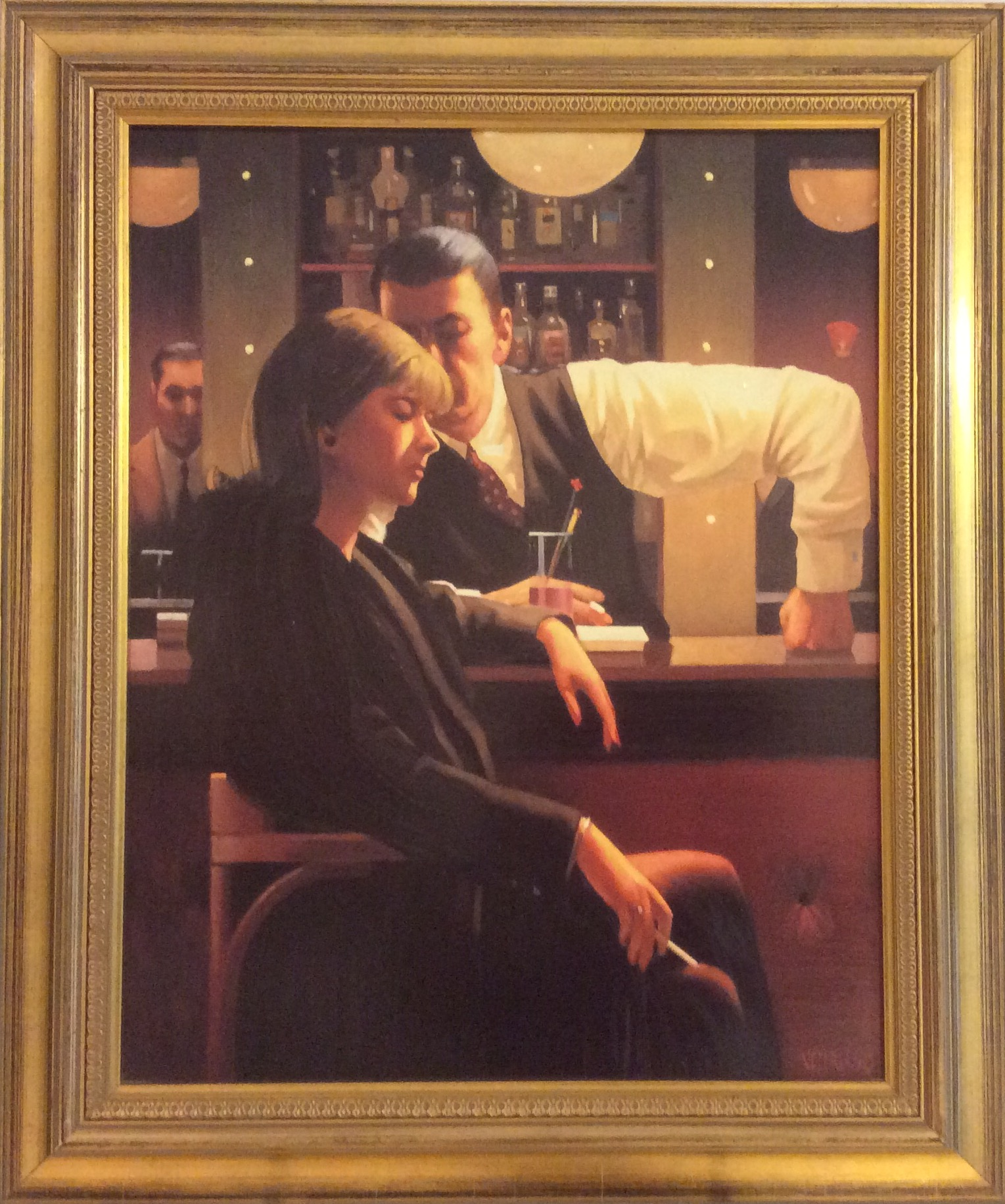 Vettriano Jack, In der Bar