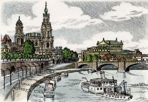 Dresden, Elbuferpanorama