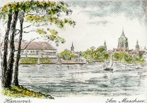 Hannover, Neues Rathaus am Maschsee